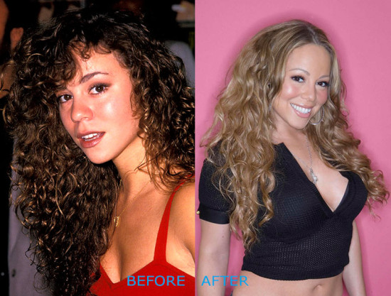 mariah carey plastic surgery before and after 550x417 Mariah Carey Plastic Surgery Before and After